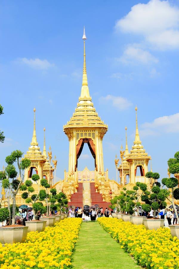 泰国国王皇家火葬用的柴堆  库存照片