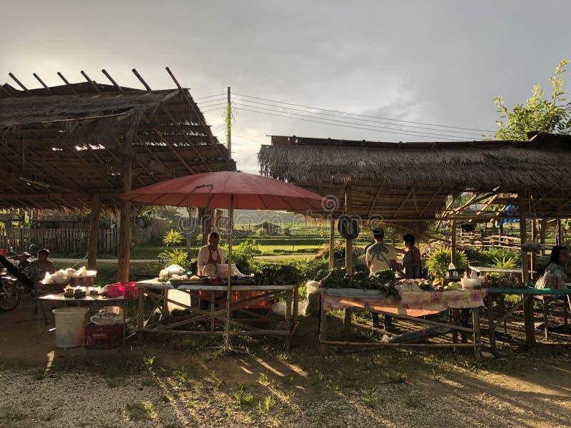 泰国地方市场 免版税库存图片