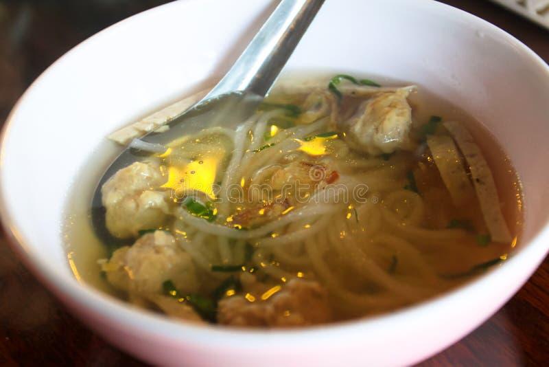 泰国地方食物汤样式 免版税库存图片