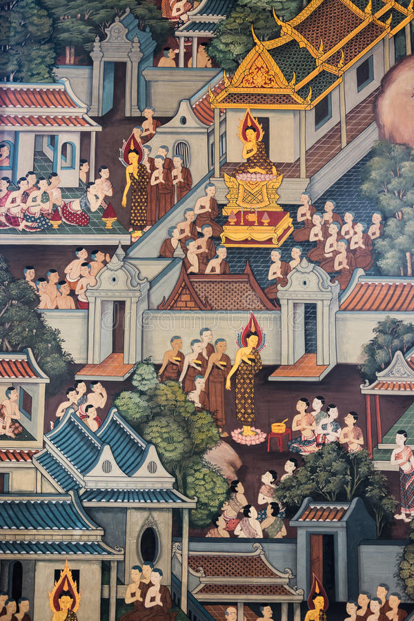 泰国壁画 库存图片