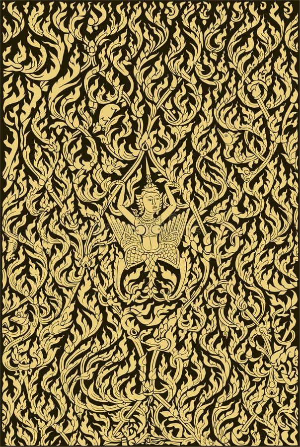 泰国天使和艺术模式老牌: EPS.8 皇族释放例证