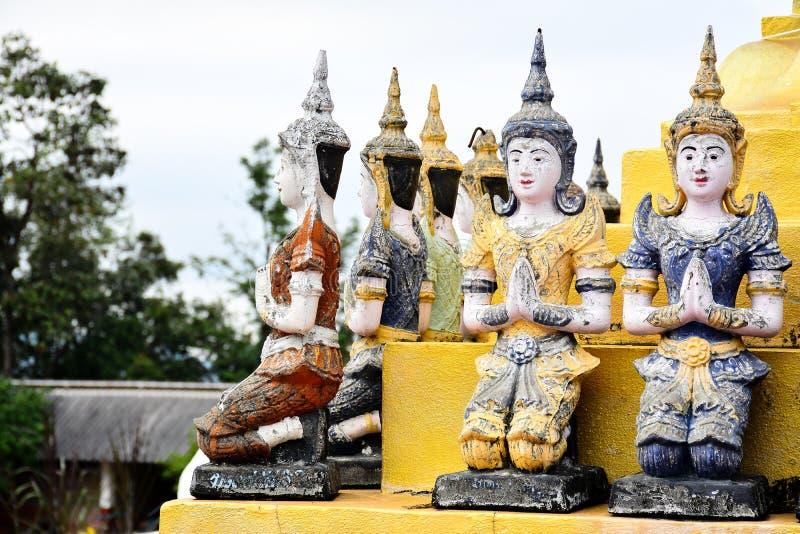 泰国天使雕象 免版税库存照片