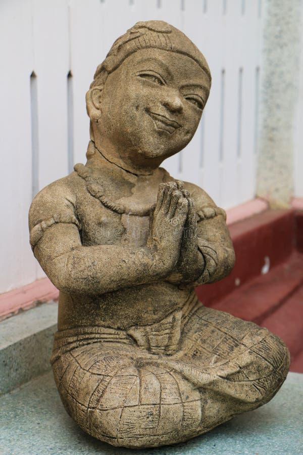 泰国女孩雕象 库存图片