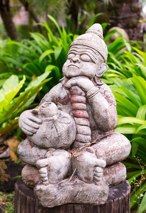 泰国宗教雕象以绿色 库存照片