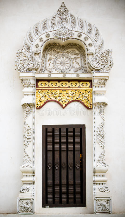 泰国寺庙古老窗口  库存图片