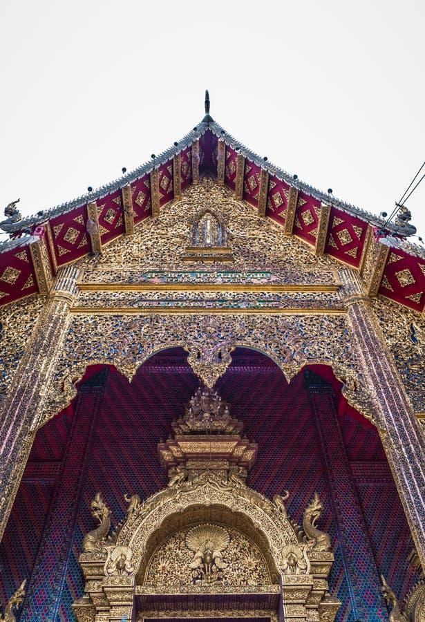 泰国寺庙名为'Wat小室Salee斯里Muang淦Wat禁令小室' 图库摄影