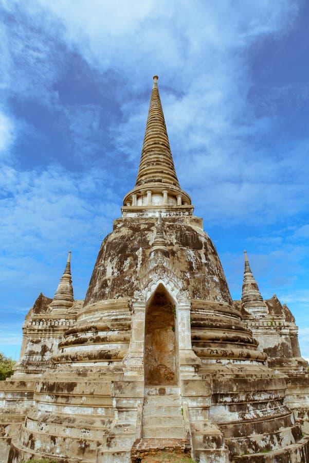 泰国寺庙在Ayudhya,泰国 免版税库存照片