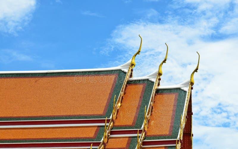泰国寺庙样式瓦 库存图片