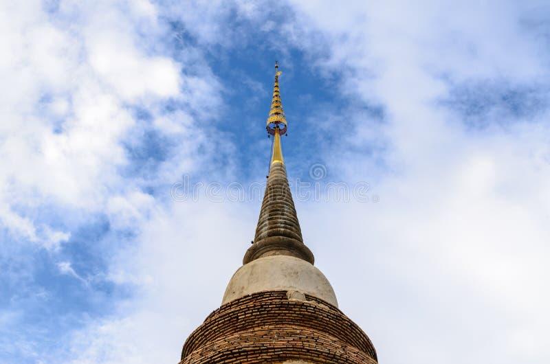 泰国寺庙, Wat Jed Yod, Chiangmai塔是著名神圣的p 免版税库存照片