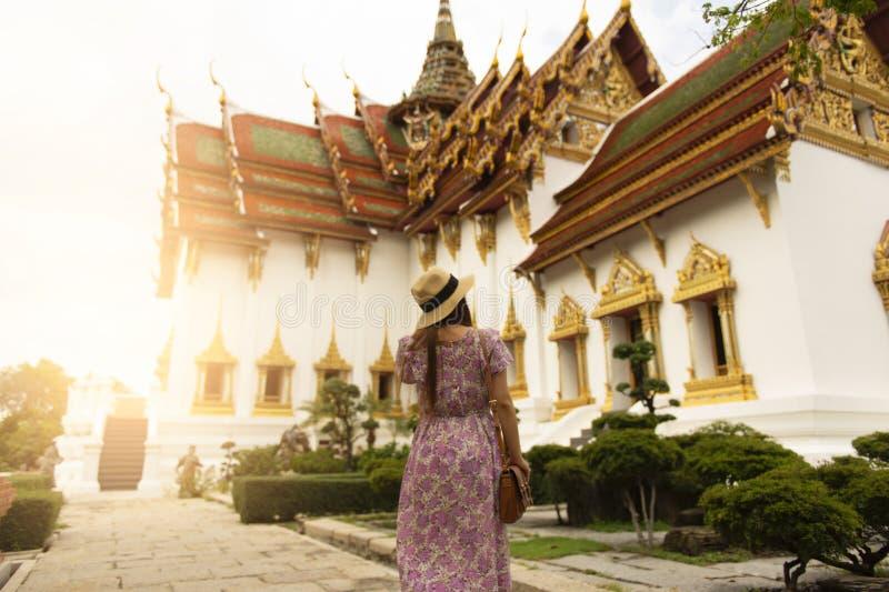 泰国寺庙historial在古城里面在泰国 库存照片