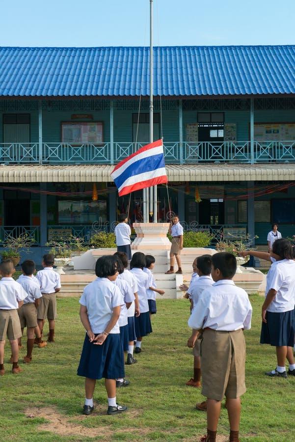 泰国小学生,泰国学童 免版税库存图片