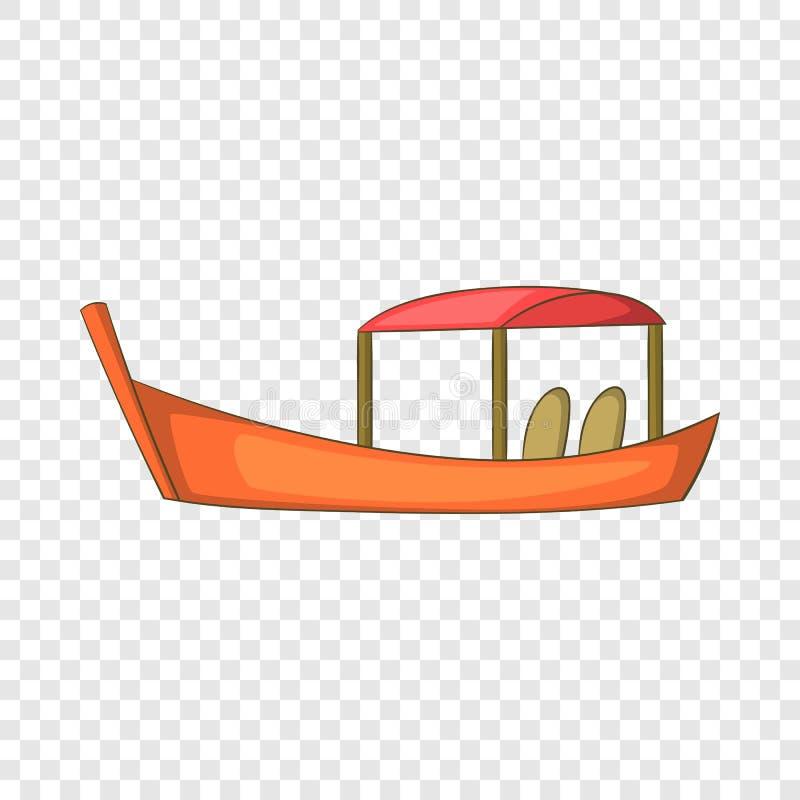泰国小船象,动画片样式 向量例证
