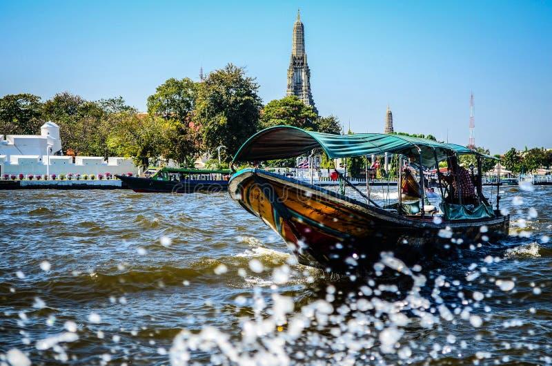 泰国小船,黎明寺,曼谷, Thailandia 免版税库存图片