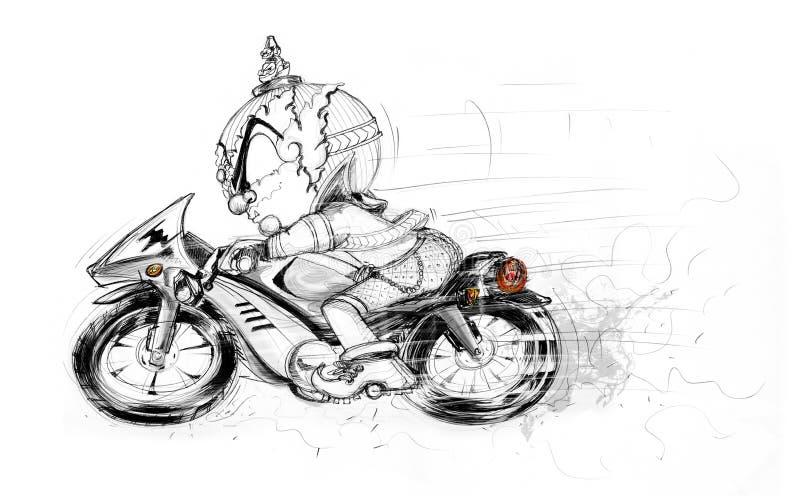泰国巨人赶走的大自行车手凹道 免版税库存照片