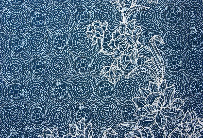 泰国布料的模式 库存照片