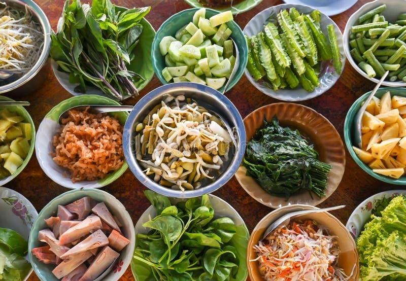 泰国当地蔬菜品种 库存图片