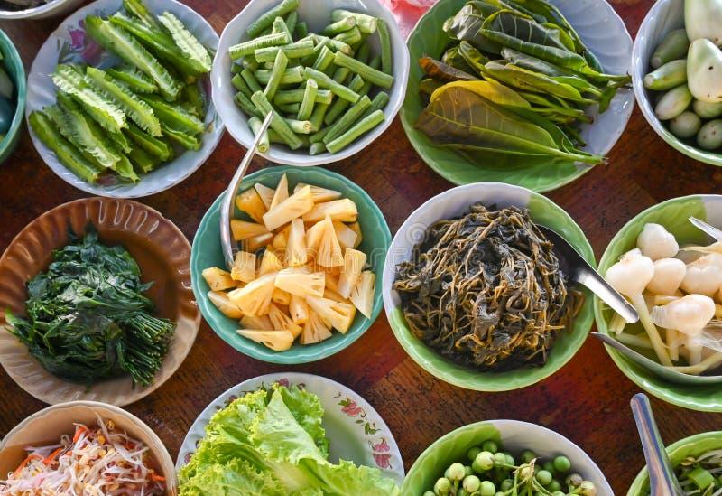泰国当地蔬菜品种 免版税图库摄影