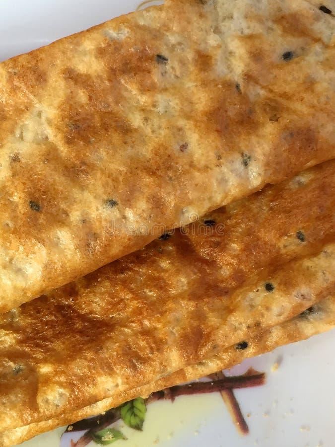 泰国快餐油炸马铃薯片米特写镜头  库存照片