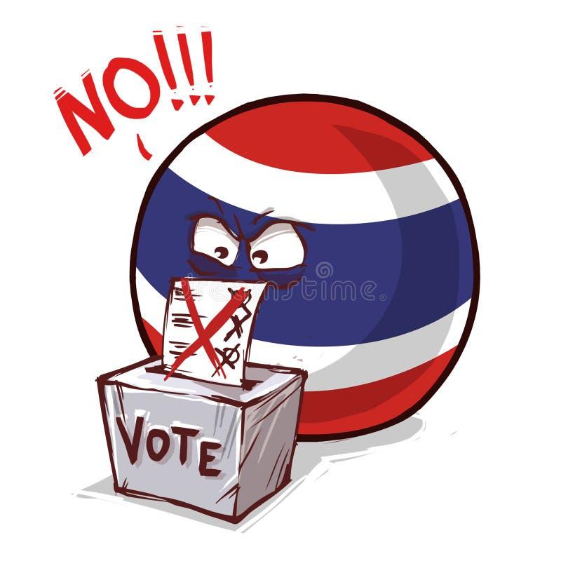 泰国投反对票国家的球 库存例证