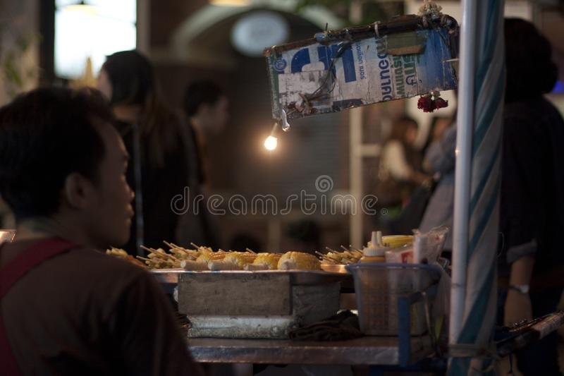 泰国摊贩 图库摄影