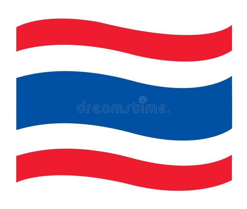 泰国旗子象,泰国旗子传染媒介 库存例证