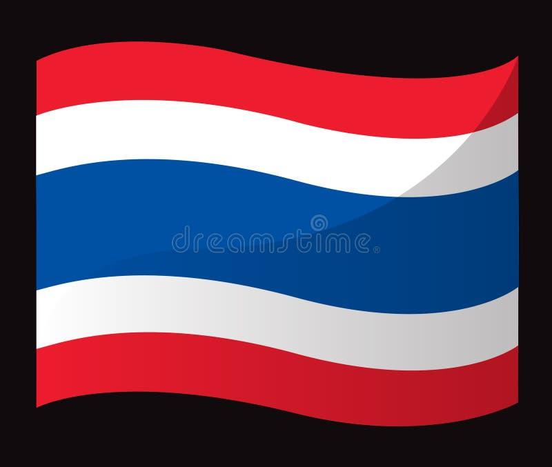 泰国旗子象,泰国旗子传染媒介 向量例证
