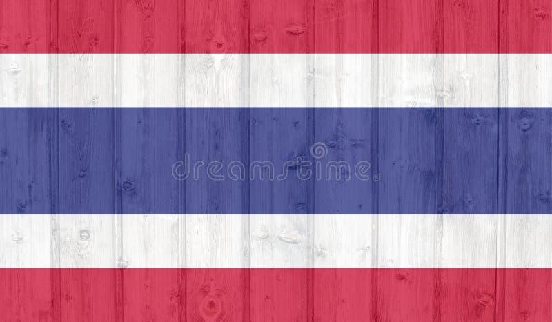 泰国旗子 向量例证