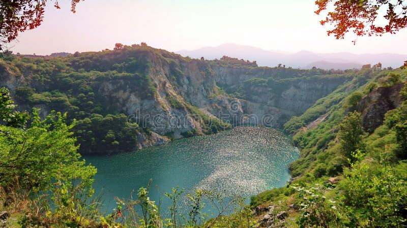 泰国春武里大峡谷称泰国大峡谷为凯里 库存图片