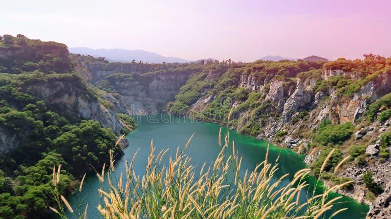 泰国春武里大峡谷称泰国大峡谷为凯里 免版税库存图片