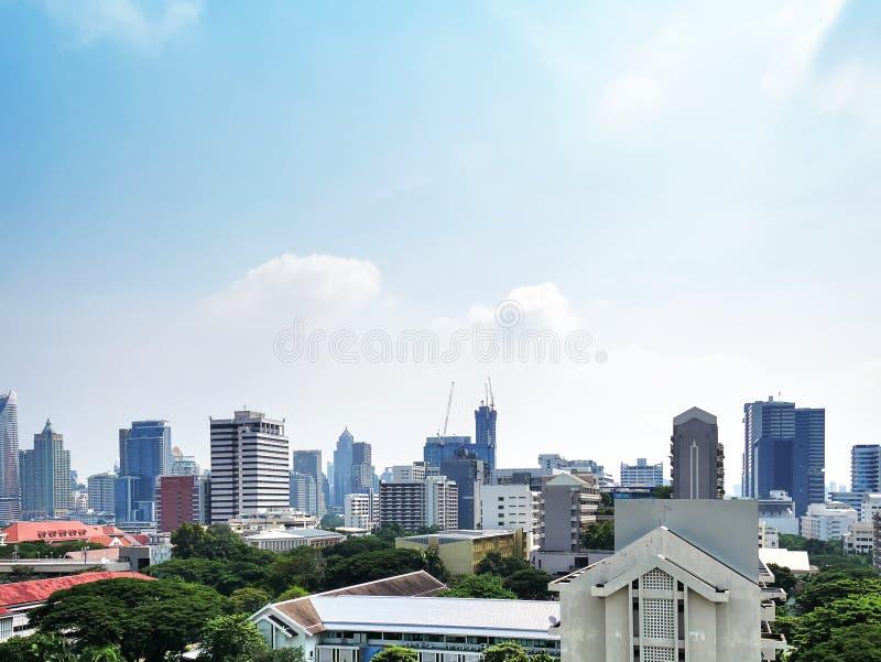泰国曼谷城市景观 免版税库存照片