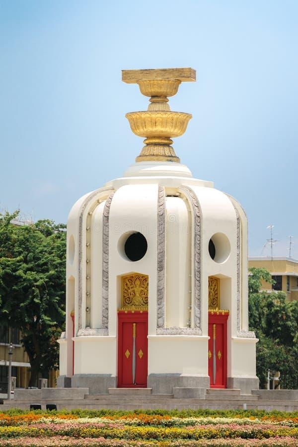 泰国曼谷民主纪念碑 库存照片