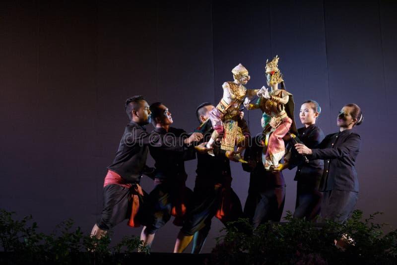 泰国木偶剧院 免版税图库摄影