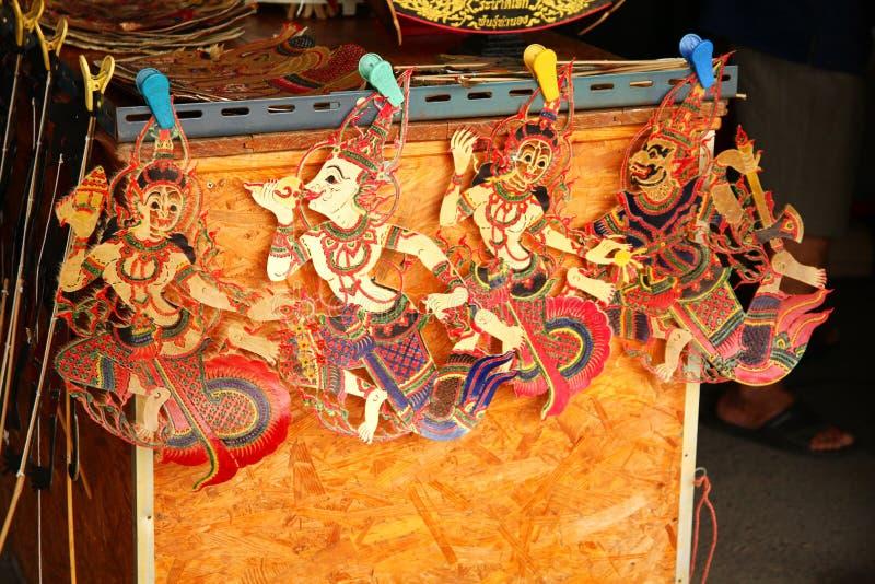 泰国木偶场面 图库摄影