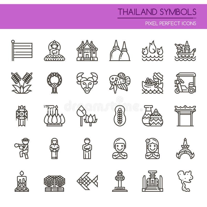 泰国标志 库存例证