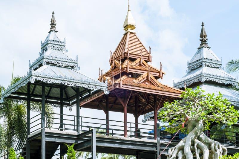 泰国样式庭院 库存照片