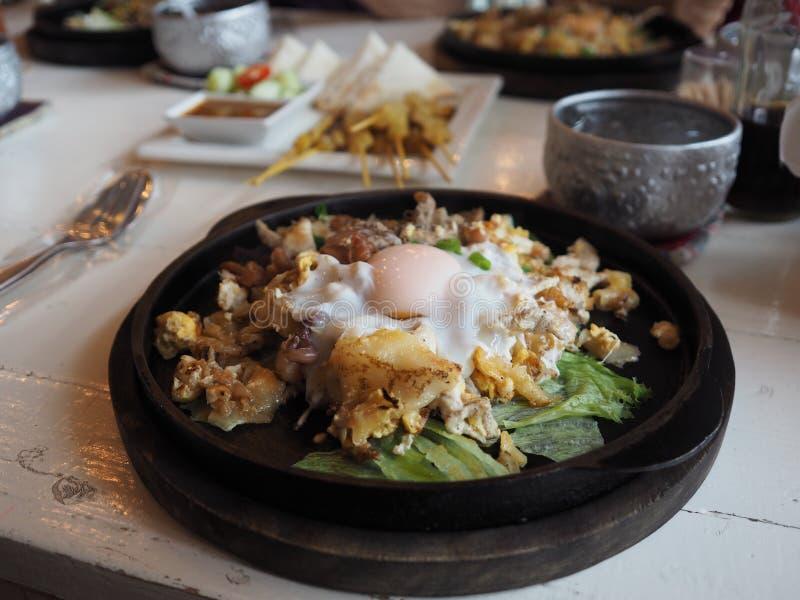 泰国样式油煎的面条 库存照片