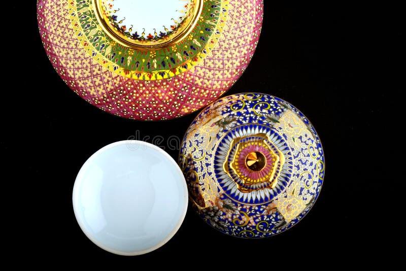 泰国样式瓷 库存照片