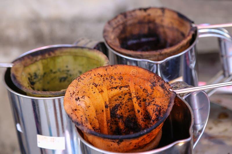 泰国样式老茶包 免版税库存照片