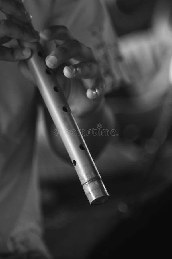 泰国民间仪器叫Thai长笛 库存图片