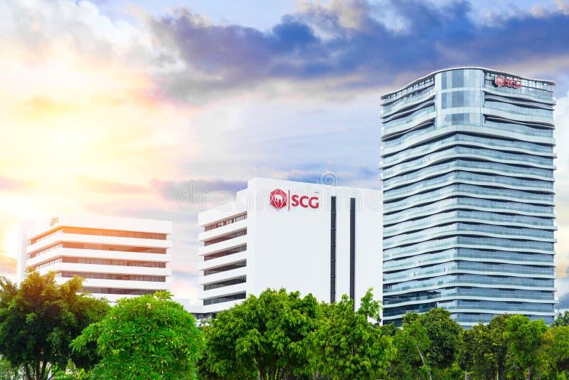 泰国水泥小组SCG在轰隆苏的办公楼 免版税图库摄影