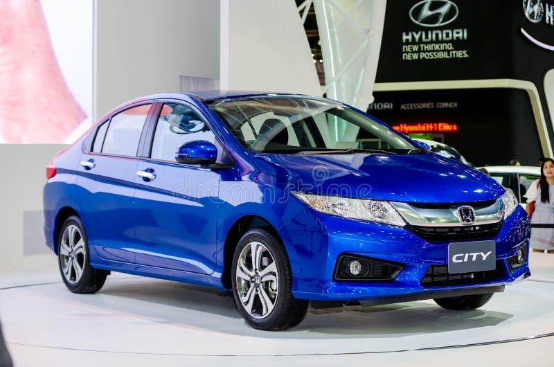 泰国汽车展示会的本田市。 免版税图库摄影