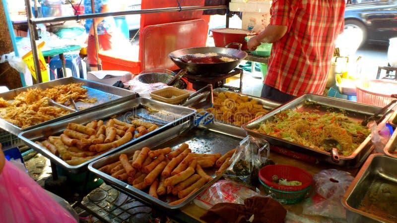 泰国油煎的快餐 免版税库存照片