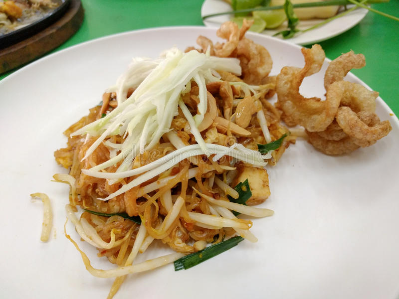 泰国油煎的面条告诉了Pad Thai 免版税库存图片