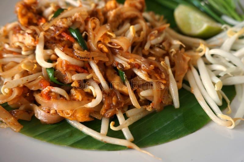 泰国油煎的面条 库存照片