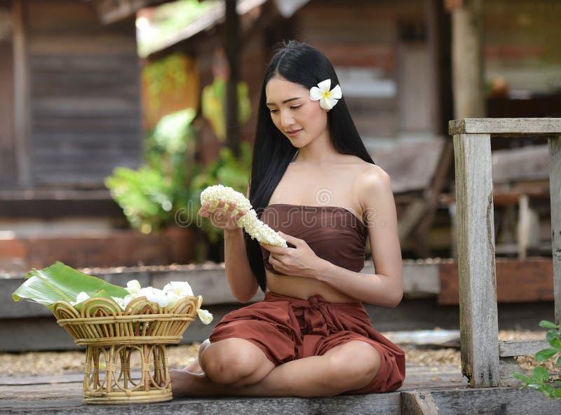 泰国泰国妇女礼服的样式 库存照片