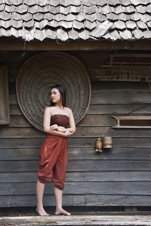 泰国泰国妇女礼服的样式 库存图片