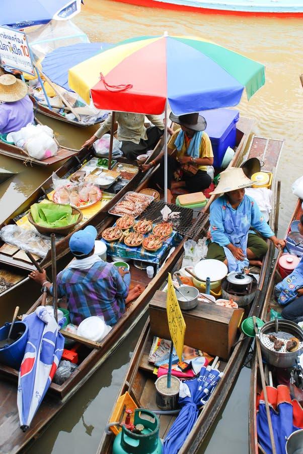 泰国浮动的市场 免版税库存照片