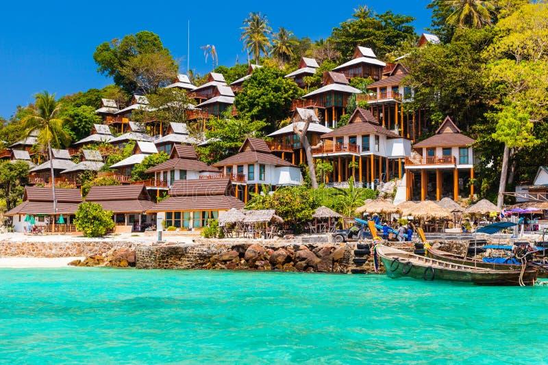 泰国海岛度假村 免版税库存照片