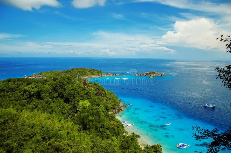 泰国海岛Similans 免版税库存照片