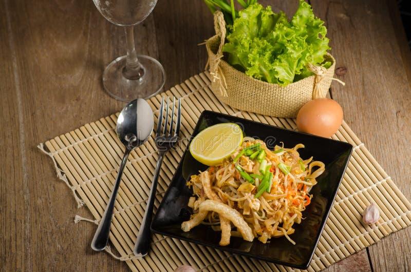 泰国混乱油煎的米线& x28; 垫Thai& x29; 免版税图库摄影
